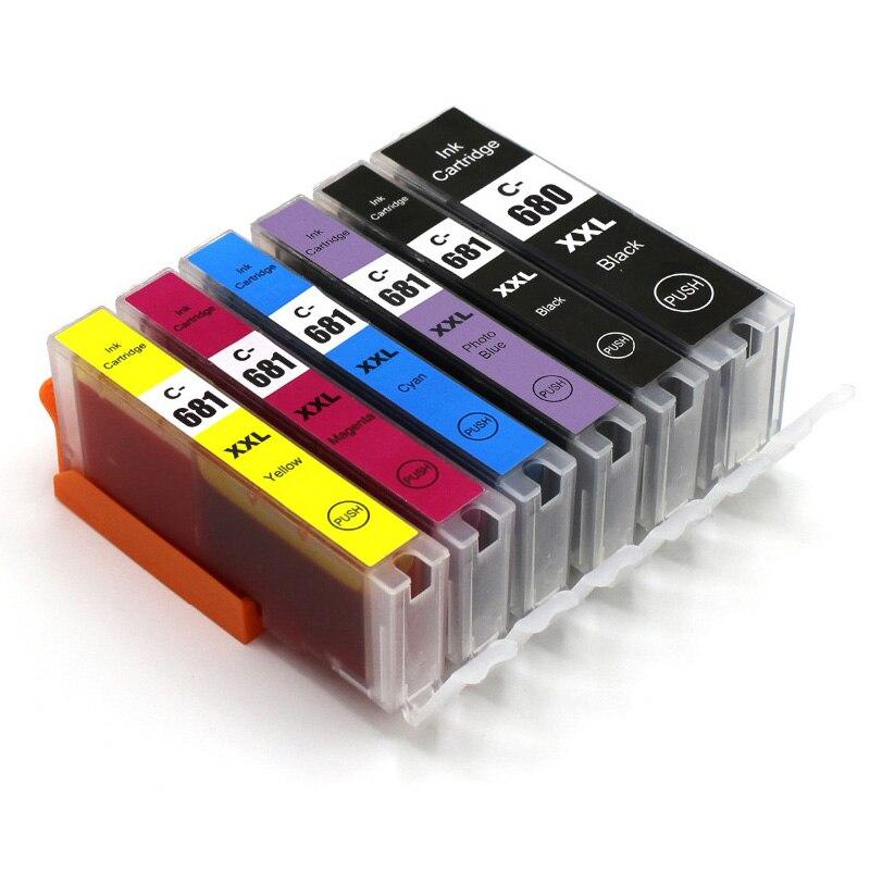 6 stuks PGI 680 CLI 681 inkt cartridge voor Canon Pixma MG5760 MG5765 MG5766 MG6860 MG6865 MG6866 TS6060 TS5060 TS9060 TS8060 PGI670-in Inktpatronen van Computer & Kantoor op AliExpress - 11.11_Dubbel 11Vrijgezellendag 1