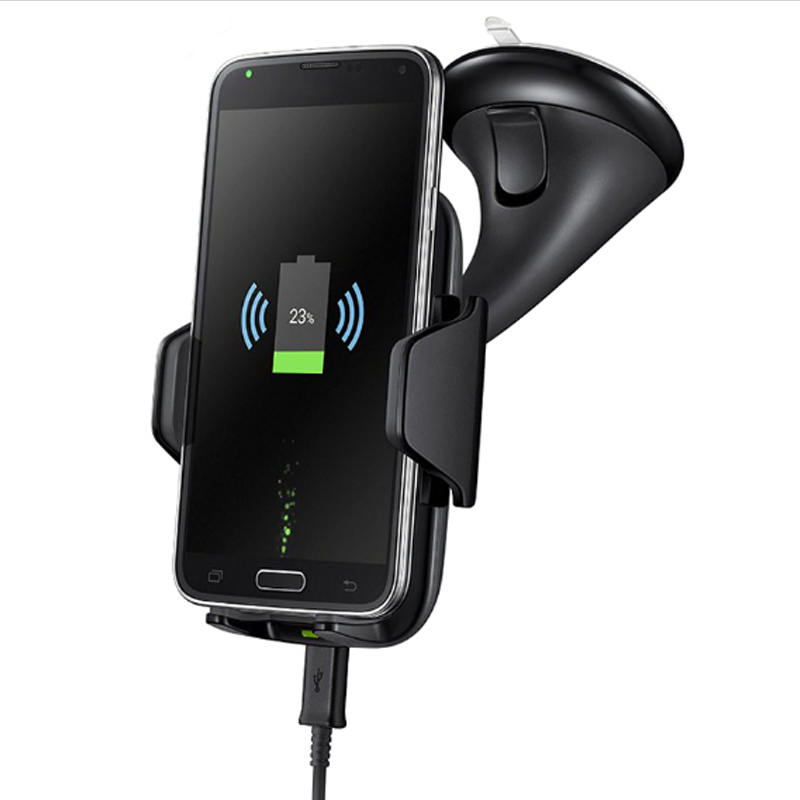 Coofun Multi-Funtion Qi Wireless Charger Phone Mount Holder Wireless Car Charger For Samsung Galaxy Note8 S7 S8 Edge Plus Fast