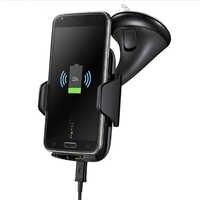 Coofun multi-fonction Qi chargeur sans fil support de téléphone chargeur de voiture sans fil pour Samsung Galaxy Note8 S7 S8 Edge Plus rapide
