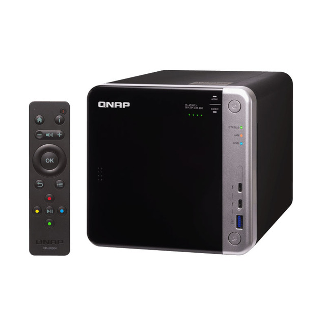 US $1249 36 8% OFF| QNAP TS 453BT3 4 bay diskless nas, SATA expansion, 8G  memory ,Thunderbolt 3 + 10GbE NAS-in Networking Storage from Computer &