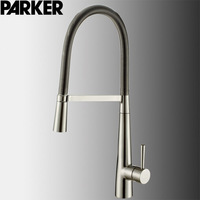 Drawing Chrome Color Spring Kitchen Faucet Multi Functional High Pressure Pumping Memory Washing Dishes Basin