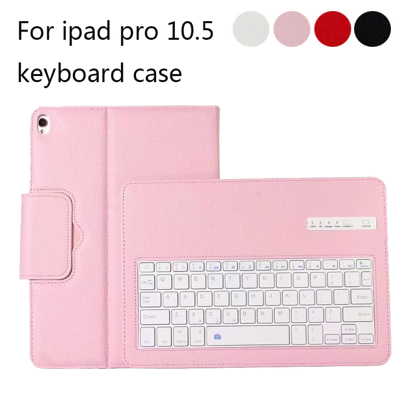 Luxury Bluetooth Keyboard Case For iPad pro 10.5 Wireless Keyboard For ipad pro 10.5 PU leather keyboard cover for ipad pro 12 9 keyboard case magnetic detachable wireless bluetooth keyboard cover folio pu leather case for ipad 12 9 cover