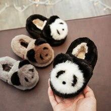 Inverno Per Bambini Ragazzi Pantofole A Casa Le Scarpe Delle Ragazze Dei  Bambini Del Panda Del Fumetto Pantofole di Cotone Del B.. d041a73d0b9