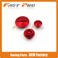 Красный Времени Двигатель Масляный Фильтр Комплект Заглушек Для CRF CRF150R CRF250R CRF450R CRF450X Мотоцикла Байк Мотокросс Бесплатная Доставка
