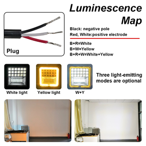 Image 4 - 126W LED Work Light Square Double Color Auto Work Light Offroad ATV Truck Tractor Car Light IP68 Class Waterproof and Dustproof