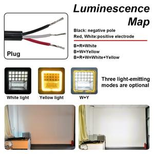 Image 4 - 126W Светодиодный светильник для работы квадратный двойной цветной автоматический рабочий светильник внедорожный ATV грузовой тягач Автомобиль светильник класс IP68 водонепроницаемый и пылезащитный