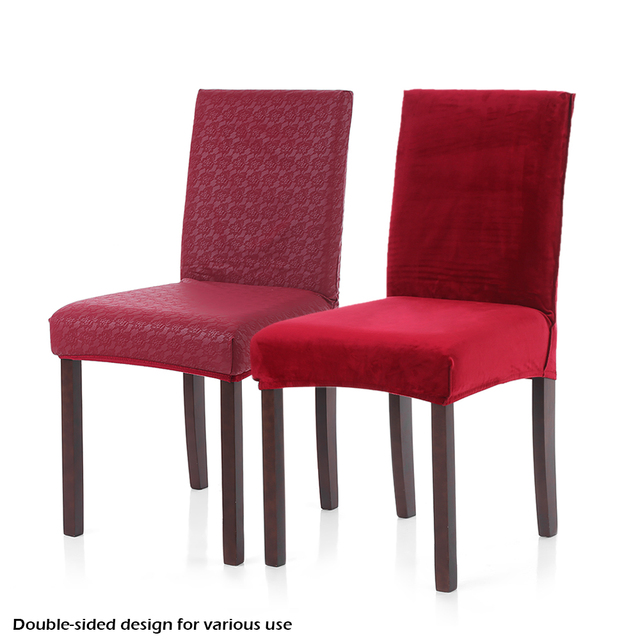 Charmant Double Sided Polyester Spandex Chair Cover Embossing Stretch Removable  Slipcover Chair Seat Cover For Hotel