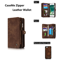 HAISSKY Split Genuine Case For Iphone 7 8 Leather Multifunction Wallet 5 5 Inch Luxury Card