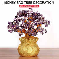 Money Spinning Tree Ornament Purse Tree Ornament Home Decoration Money Tree Ornament Crystal Beautiful Fortune Tree Ornament