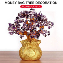 Money Spinning Tree Ornament Purse Home Decoration Crystal Beautiful Fortune