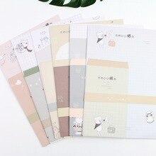 9pcs/Set 3 envelopes + 6 sheets letter paper Big Face Cat Series Envelope For Gift Korean Stationery