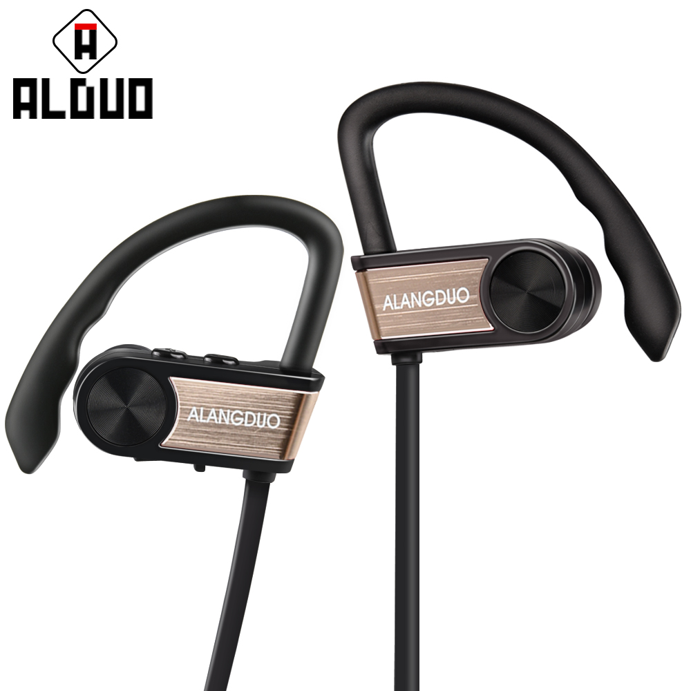 ALANGDUO Noise Canceling Headphones for iPhone 8 G7 Wireless Bluetooth Earphones
