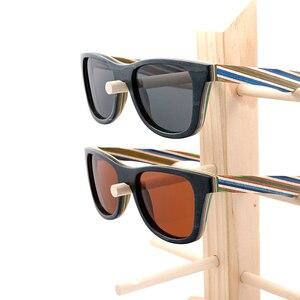 Image 5 - בובו ציפור מקוטב משקפי שמש נשים גברים שכבות סקייטבורד עץ מסגרת כיכר סגנון משקפיים לנשים Eyewear תיבת העץ