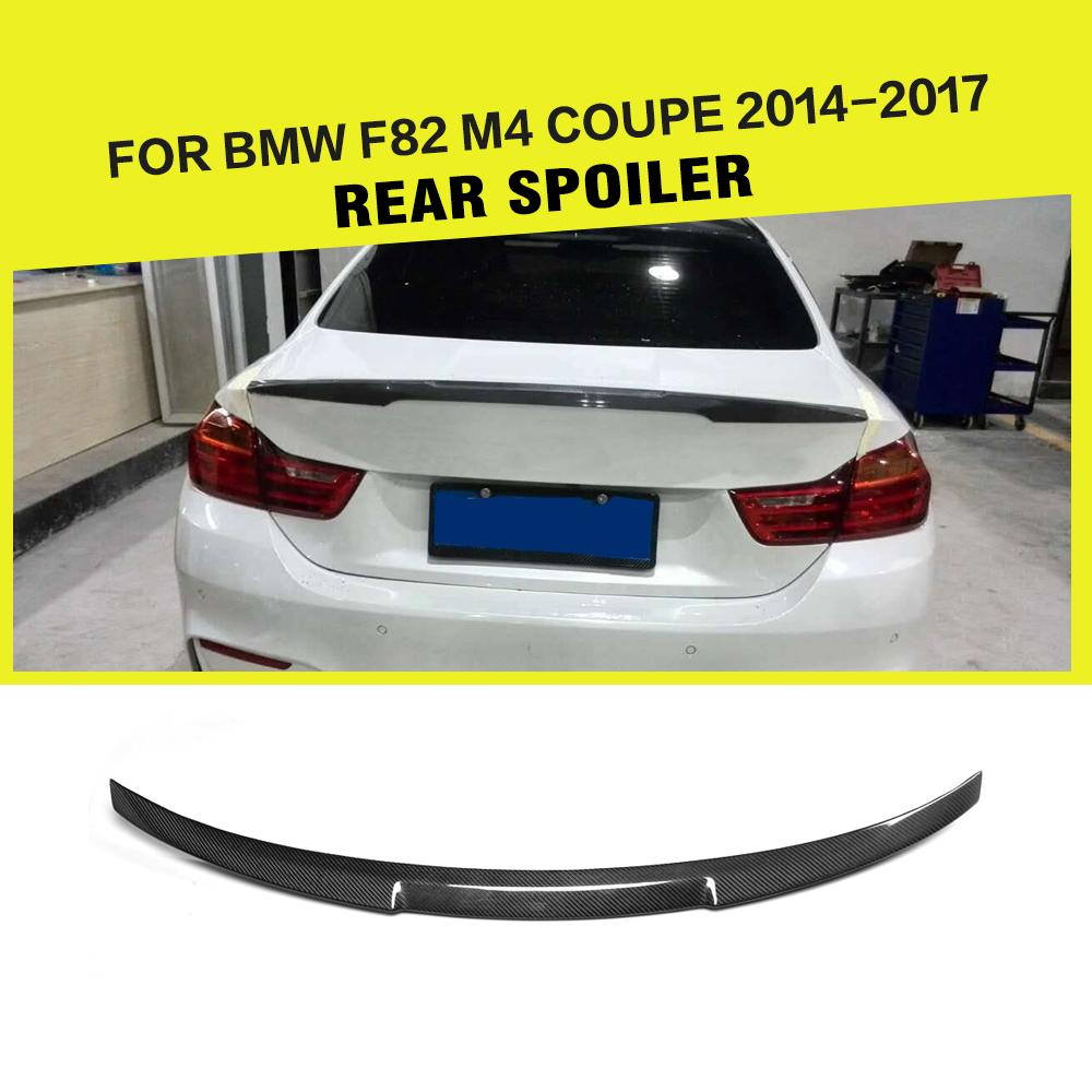 Carbon fiber auto rear spoiler lip wing car styling for bmw 4 series f82 m4