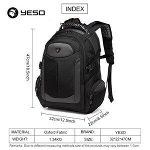 Image 2 - YESO Marka Dizüstü Sırt Çantası erkek seyahat çantaları 2019 Çok Fonksiyonlu Sırt Çantası Suya Dayanıklı Siyah Bilgisayar Sırt Çantaları Genç Için