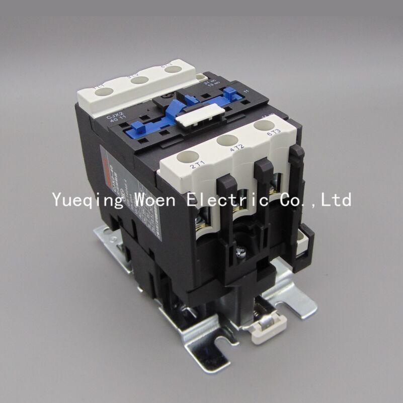 цена на CJX2 CJX2-4011 40A contactor 220v 3p contactors ac 220v voltage 380V 220V 110V 36V 24V