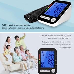 Image 2 - USB Automatic LCD HD Digital Monitor di Pressione Sanguigna del Braccio Inglese Sfigmomanometro per la Misurazione della Pressione Arteriosa Medico