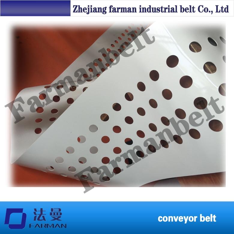 Homemade And Customer Designed Egg Conveyor Belt punching holes egg conveyor belt