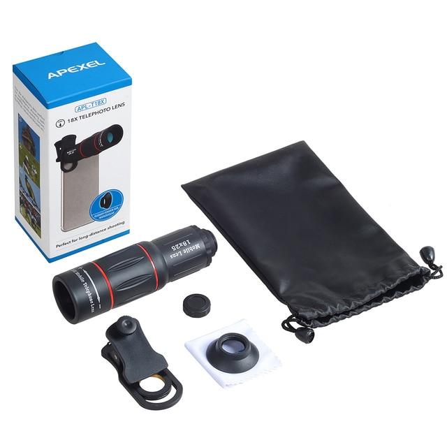 APEXEL Telefon Camera Lens universal 18X Telescope Zoom telescope  Mobile Phone Lens for iPhone Xiaomi Smartphones  APL-18XT 5