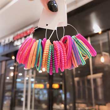 10 Pcs Candy Colors Nylon Cute Girl Ponytail Hair Holder Hair Accessories Thin Elastic Rubber Band For Kids Colorful Hair Ties 50 100 pcs girls candy color nylon hair ties small kids elastic hairband children rubber band ponytail holders hair accessories