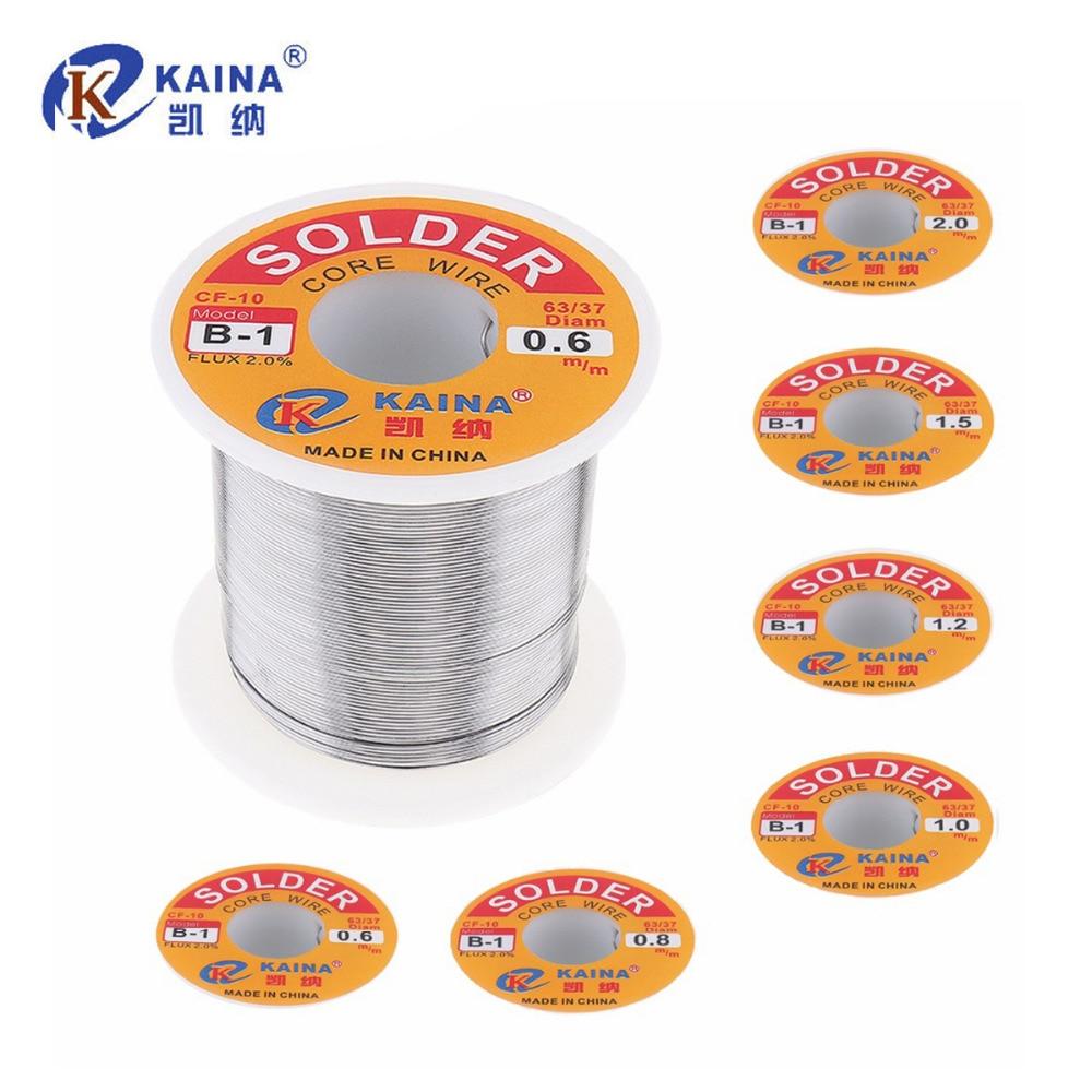 KAINA 0.6/0.8/1.0/1.2/1.5/2.0mm 350g 63/67 FLUX 2.0% di Stagno Piombo tin Wire Melt Colofonia Core Saldare Saldatura Filo Rotolo