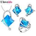 50% off 5 Cores Bijoux Femme Africane Azul Do Casamento de Cristal Dom Conjuntos de jóias para As Mulheres Brincos Colar com Pedras Grandes T295