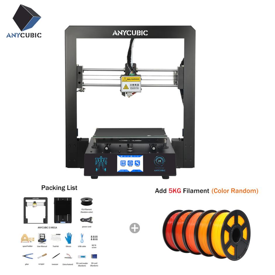 Anycubic i3 Mega Plus Size 3D Printer Large Printing Touch Screen 3d Printer High Precision 3D