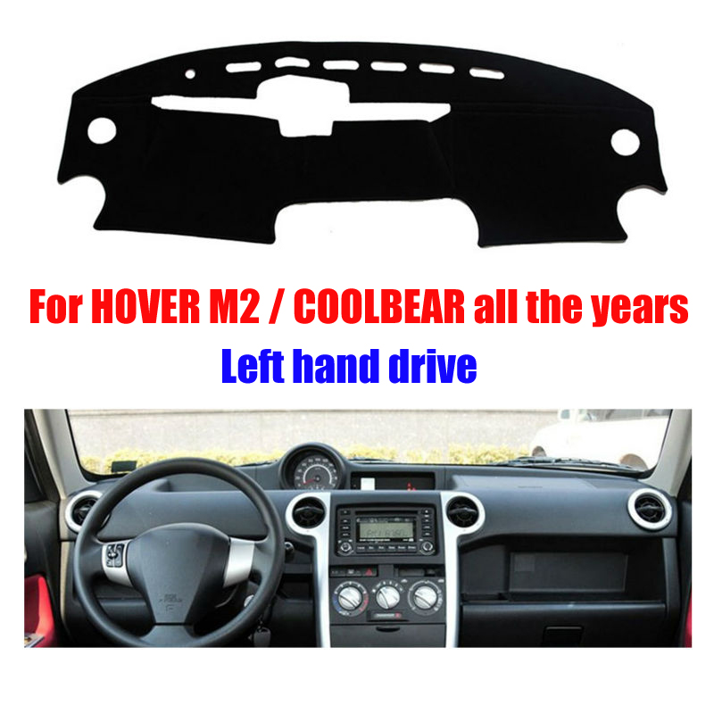 Car dashboard covers mat for HOVER M2 / COOLBEAR all the years Left hand drive dashmat pad dash cover auto dashboard accessories 525a all iin 1 usb 2 0 3 0 5 25 computer cd rom drive media dashboard black