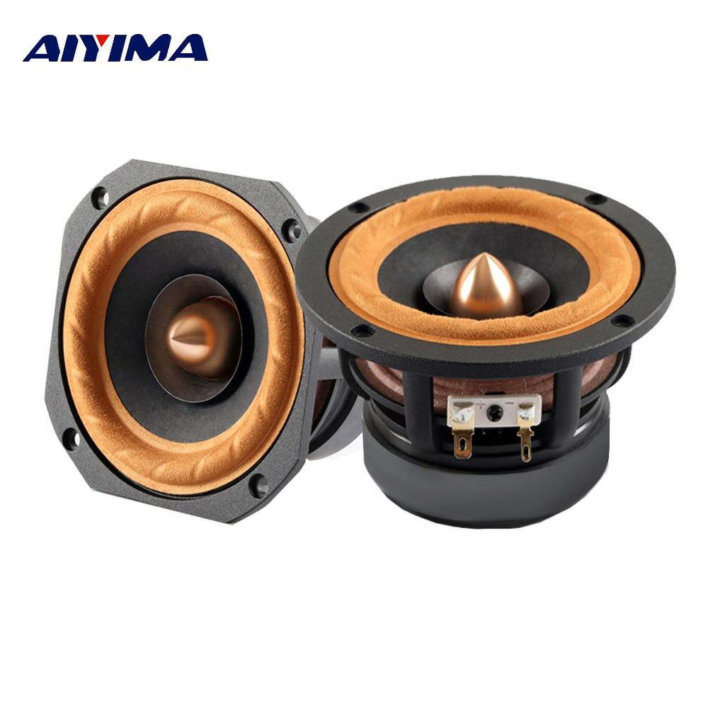 AIYIMA 1Pc 4Inch Audio Portable Full Range speaker 4 8 Ohm 30W Altavoz Column DIY Speakers