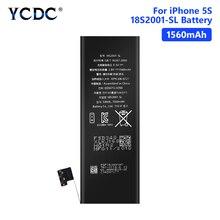 YCDC поле литиевых Высокое качество реального ёмкость 3,8 в 1560 мАч батарея для iPhone 5S 5C iPhone5S перезаряжаемые батарея для телефона батареи