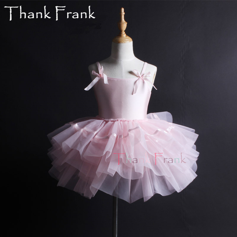 Filles Camisole Tutu Ballet robe enfants adulte arc à manches longues Ballet danse justaucorps robes femmes professionnel ballerine Costume C6