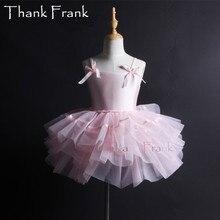Girls Camisole Tutu Ballet Dress Kids Adult Bow Long Sleeve Ballet Dance Leotard Dresses Women Professional Ballerina Costume C6