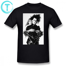 Edward Scissorhands T Shirt Depp Ryder T-Shirt Short-Sleeve Fashion Tee Cute Cotton Male Tshirt