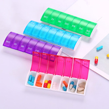 7 Days Weekly Pill Organizer Tablet Storage Box Plastic Medicine Splitters VF Promotion Price
