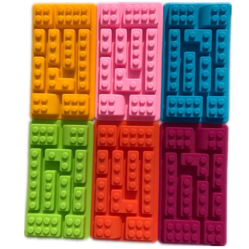 DIY Chocolate Silicone Mold Ice Cube 10 Holes  Brick Blocks Shaped Rectangular Tray Cake Tools Fondant Moulds