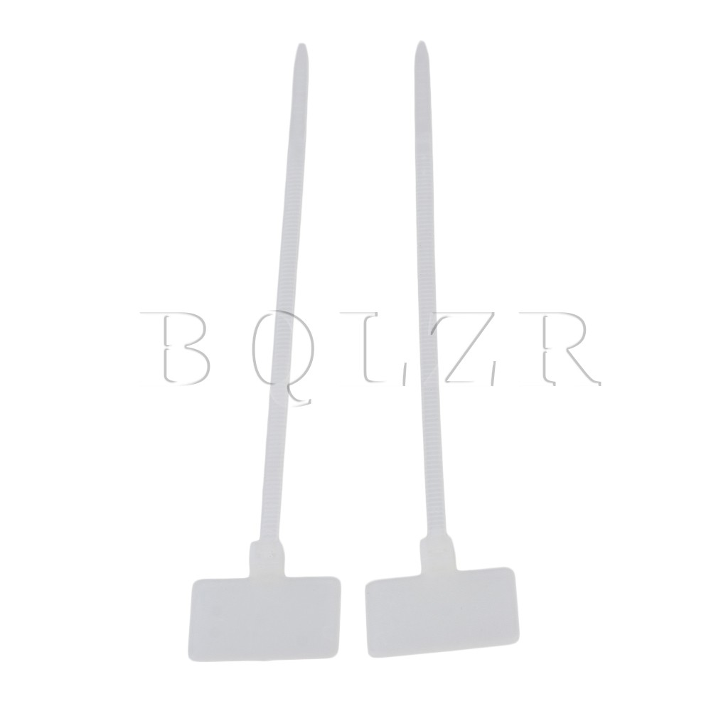 BQLZR 100 PCSCable Zip Ties Ethernet Wire Power Label Mark Tags 2.5 ...