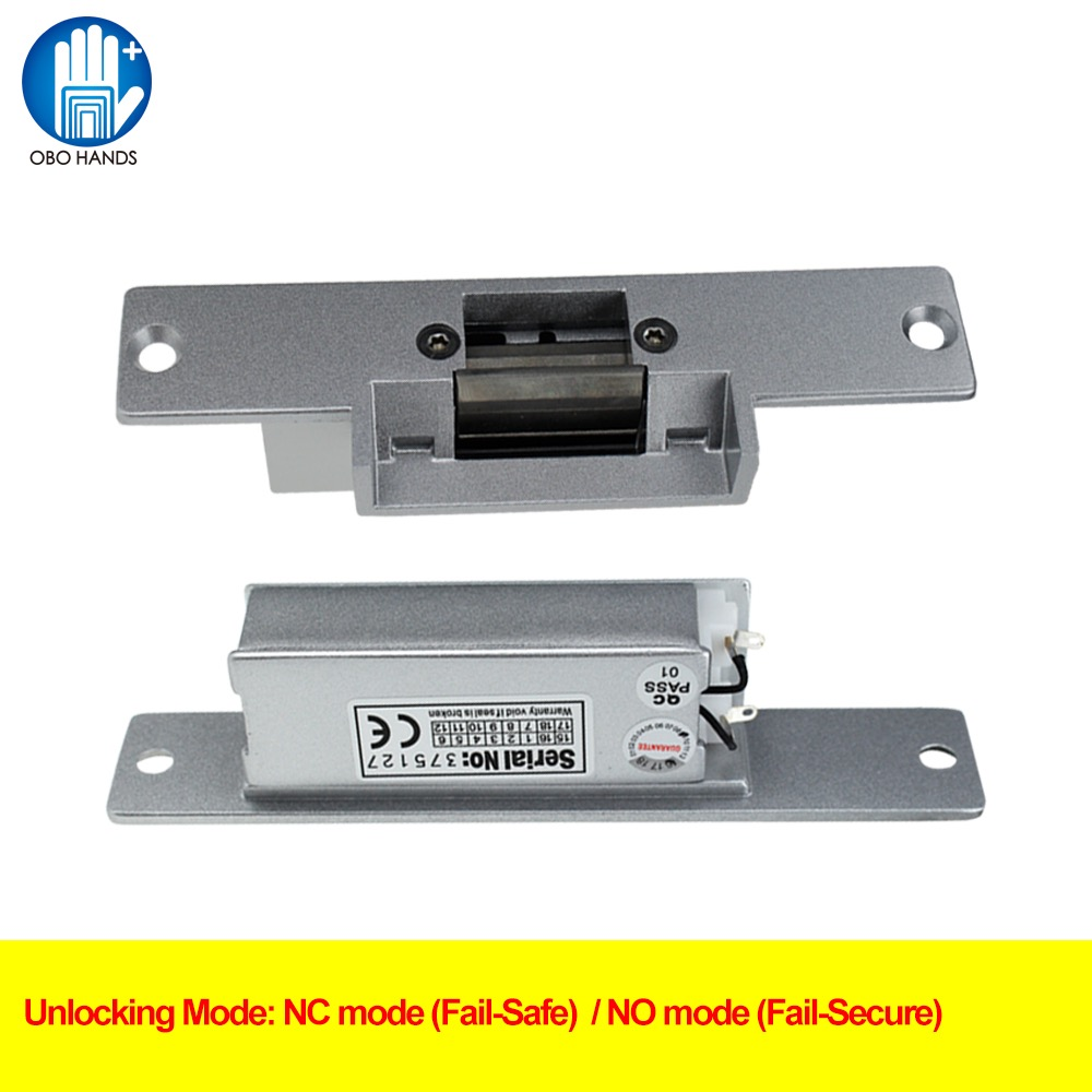Power off to Lock Access Door Lock Control 12V DC Fail Security NO type Door Electric Strike Lock For Access Control Power Locks 1pc hot sale 100%quality guaranteed doner kebab slicer two blades electrical kebab knife kebab shawarma gyros cutter