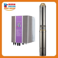 DECEN 4000W Solar Pump 5500W PV Pump Inverter For Solar Pumping System Adapting Water Head 17