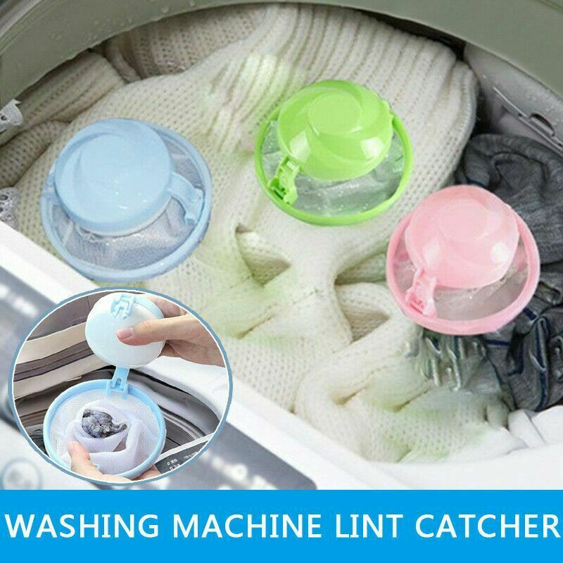 Home Floating Laundry Balls Discs Hair Removal Catcher Filter Mesh Pouch Cleaning Balls Bag Dirty Fur Collector Washing Machine in Laundry Balls Discs from Home Garden