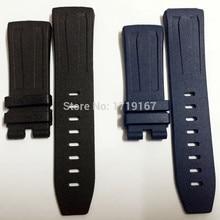 28mm for AP Rubber Watch Band Belt Strap For Piguet Oak Concept GMT Bracelet 26560IO / 26221FT 26577TI. + Tool