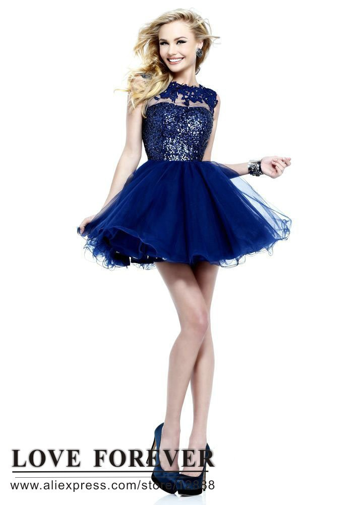 Aliexpress.com : Buy Backless Ball Gown Tulle and Lace Navy Blue ...