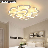 BOCHSBC Romantic Heart Acrylic Lampshade Ceiling Lamp for Bedroom Living Room Dining Room Modern Led Lamps Lighting Fixtures