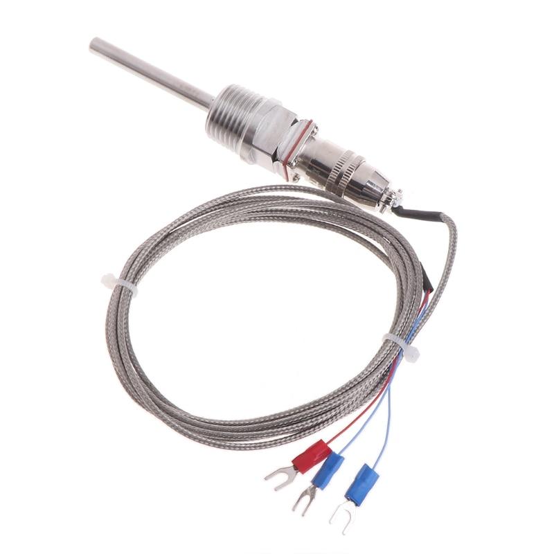 RTD Pt100 Temperatur Sensor Sonde L 5 cm 1/2