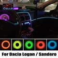 9 Meter EL Wire For Dacia Logan / Sandero 1 2 / Stepway / Flexible Neon Cold Light / Car Central Control Desk Decorative Strip