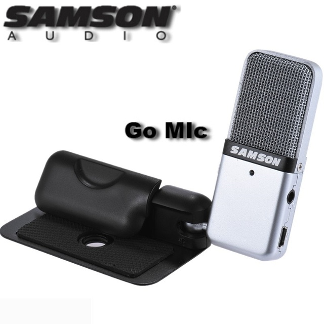 Samson Go Mic Портативный USB конденсаторный микрофон Plug and Play совместимость с Mac или ПК запись музыки подкасты