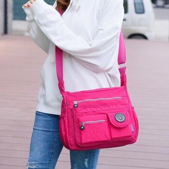 Women Shouder Bags Handbags Female Famous Brand Solid Messenger Bag Small Summer Beach Nylon Purse Sac A Main Bolsas Feminina 5