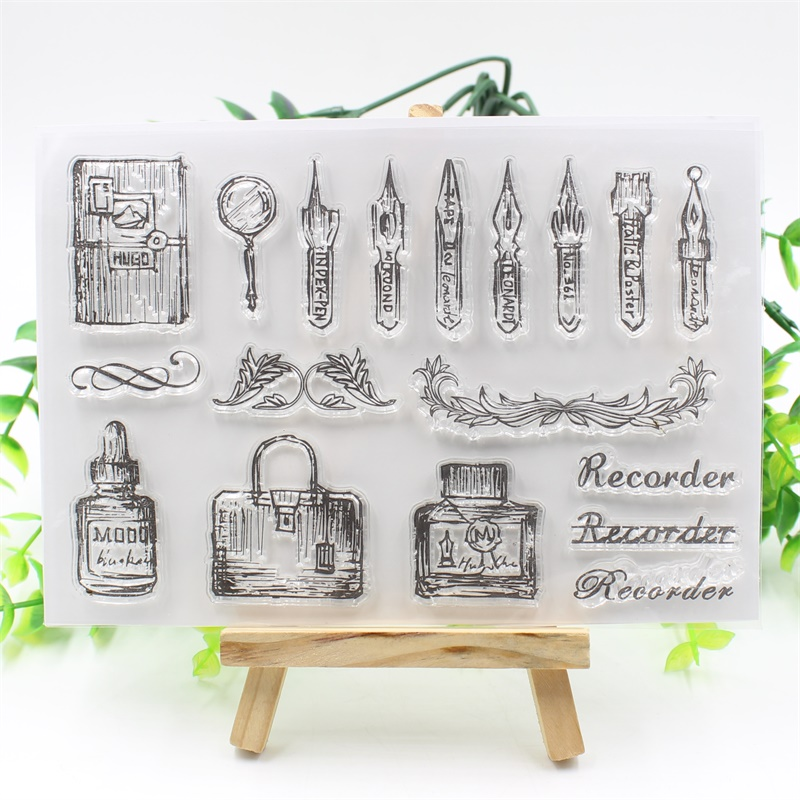 YPP CRAFT Recorder Transparent Clear Silicone Stamp/Seal for DIY scrapbooking/photo album Decorative clear stamp about lovely baby design transparent clear silicone stamp seal for diy scrapbooking photo album clear stamp paper craft ll 052