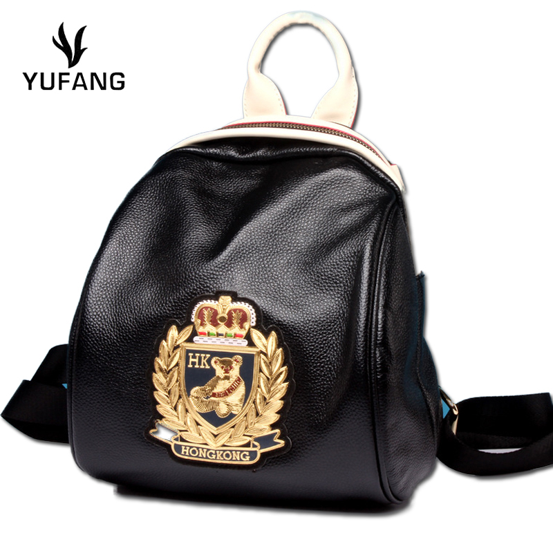 Style Black Yufang Shopping Black Dos Marque Black Gold mickey Bears Western gold Pink silver Dames Mignon À Mode Sac Bear Voyage Doux Daily Femmes rqHYOqwptx