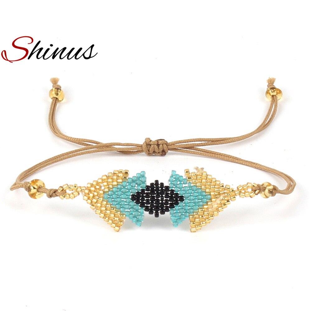 Shinus Boho Bracelet MIYUKI Bracelets Women Pulsera Jewelry Handmade Dlicas Seed Beads Strap Loom Weave Womens Friendship Gifts