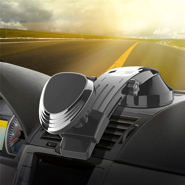 מגנטי טלפון מחזיק רכב לוח מחוונים שמשה קדמית Adjustablet רכב טלפון Stand עבור iPhone8 XS XR Galaxy S10 לרכב טלפון הר